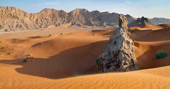 Le dune di sabbia di Dubai (foto J Marshall - Tribaleye Images / Alamy)