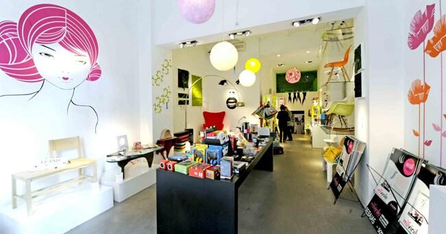 Gli interni del negozio  L'Appartement (foto Enrico De Santis)
