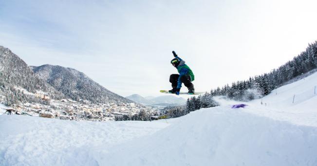 Snowboard sulle piste di Tarvisio (foto Fabrice Gallina)