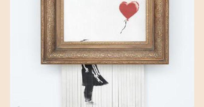 Banksy, Love is in the Bin, 2018, Privatsammlung, Foto: Sotheby's, © Banksy