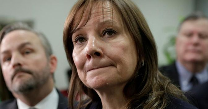 La presidente e ceo di Gm, Mary T. Barra (Reuters)