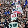 La manifestazione a favore della realizzazione della Tav che si è tenuta il 10 novembre a Torino (foto Ansa)