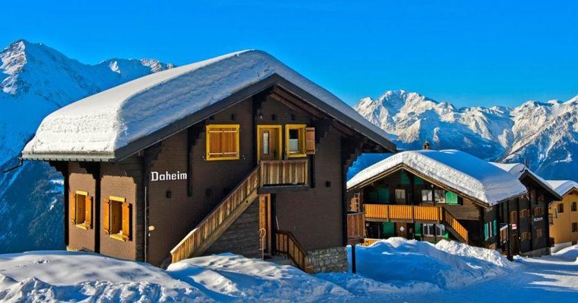 Case sulla neve, cresce la domanda ma calano i prezzi