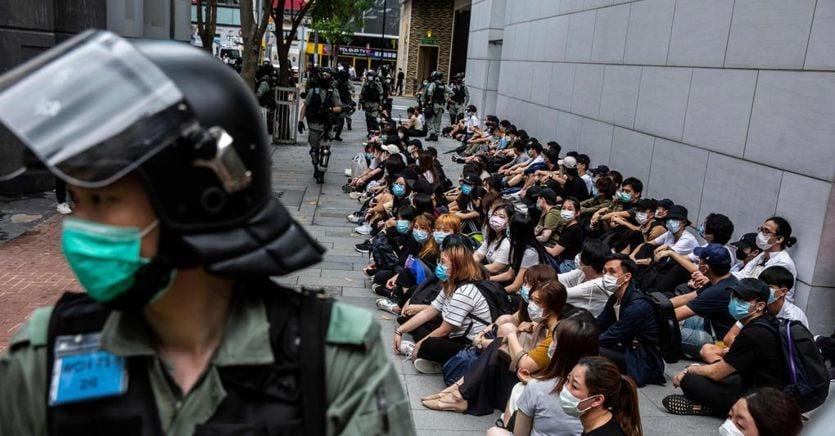 A Hong Kong riprende la protesta contro la legge sulla sicurezza nazionale