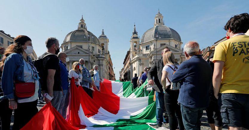 Centrodestra in piazza. Salvini: capisco la rabbia ma ora proposte al governo