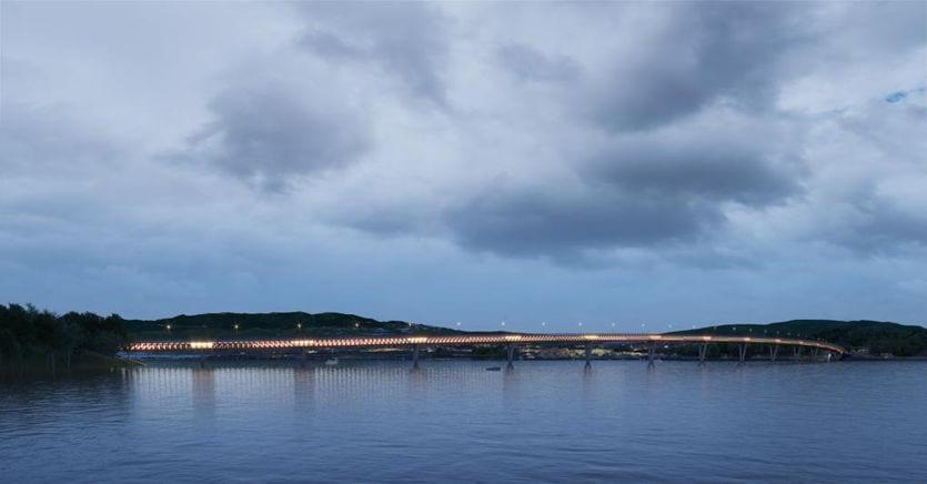 Tecnologia Friulana Per Il Ponte Di Legno Piu Grande Mai Costruito Il Sole 24 Ore