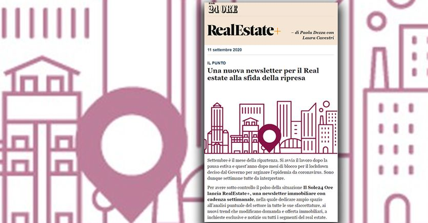 Ecco RealEstate+, la newsletter settimanale che racconta tutto sull'immobiliare thumbnail