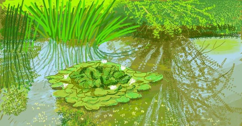 """David Hockney's """"Spring"""""""