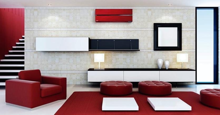 Mistubishi Electric, Kirigamine Style,  massima efficienza disponibile in rosso, nero e bianco