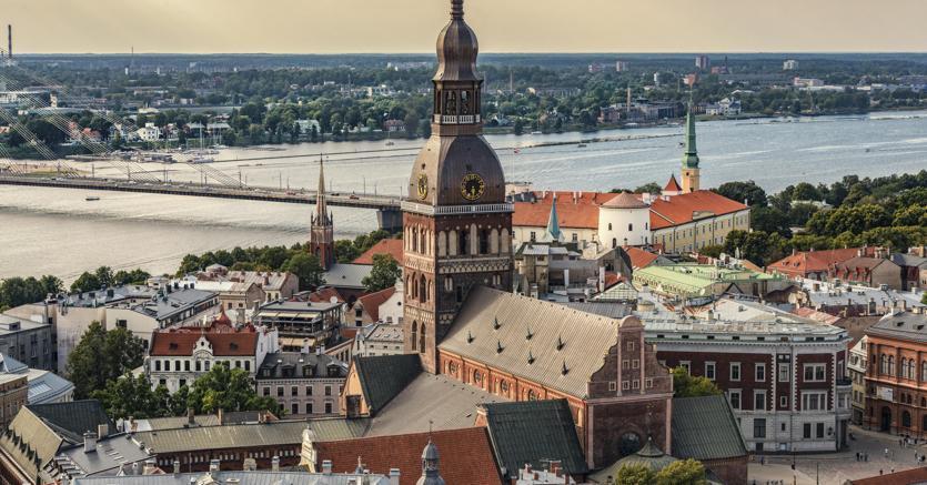La città di Riga in Lettonia (Agf)