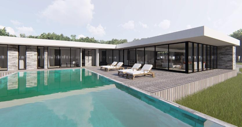 Come progettare al meglio una villa monofamiliare con - Progetto villa con piscina ...