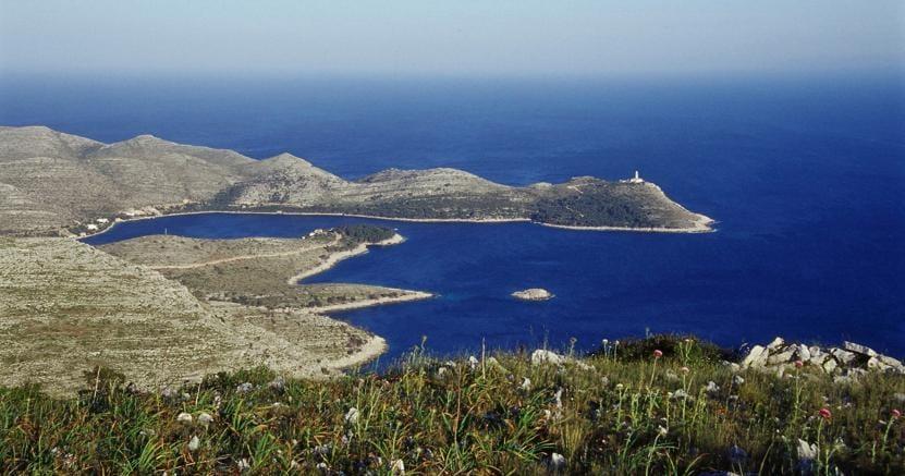 Uno scorcio dell'isola di Lastovo, in Croazia