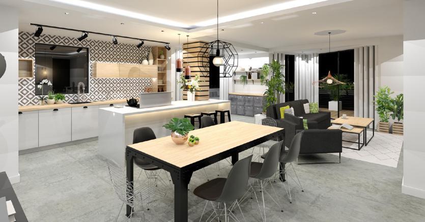 Da appartamento anni 70 a open space stile industrial in for Case moderne interni open space