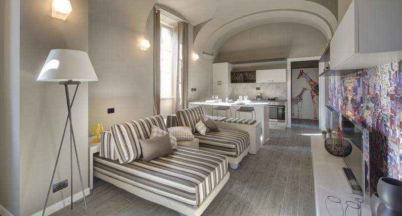 Uno degli alloggi di Quadrato a Torino