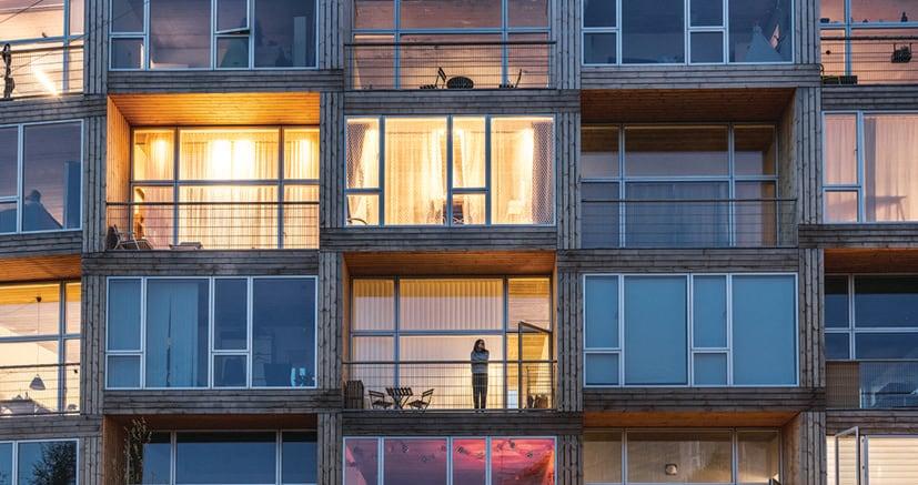 Il complesso di Dortheavej, in una zona a Nord-Ovest della città di Copenaghen (foto Rasmus Hjortshoj)