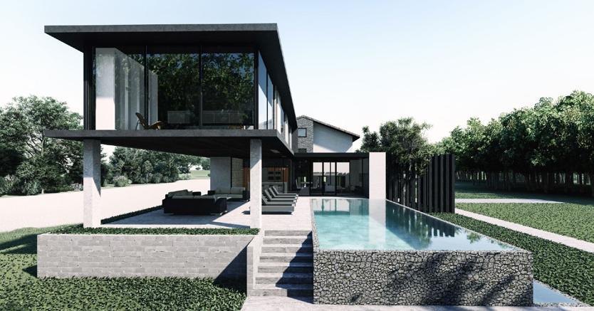 Fondi Mobili Per Piscina : Nuova vita con piscina per una villetta degli anni il sole