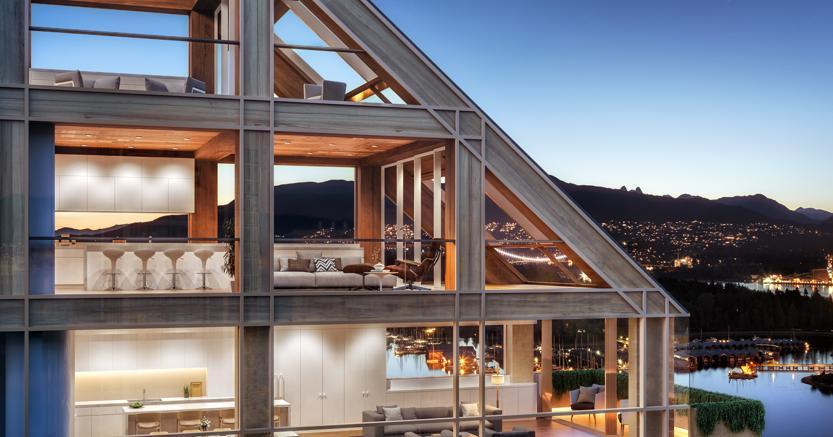 A inizio 2019 sono iniziati i lavori della Terrace House, in legno e vetro, di Vancouver, del premio Pritzker Shigeru Ban.