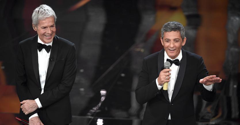 Claudio Baglioni e Fiorello a Sanremo 2018: cantautore verso la conferma, showman pronto a un programma Rai (Agf)
