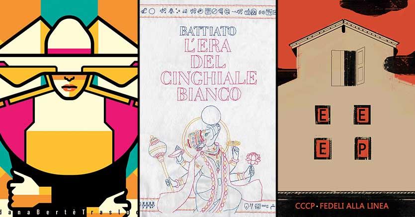 Le copertine dei classici della musica italiana riletti per la mostra di«Italianism» alla Reggia di Portici