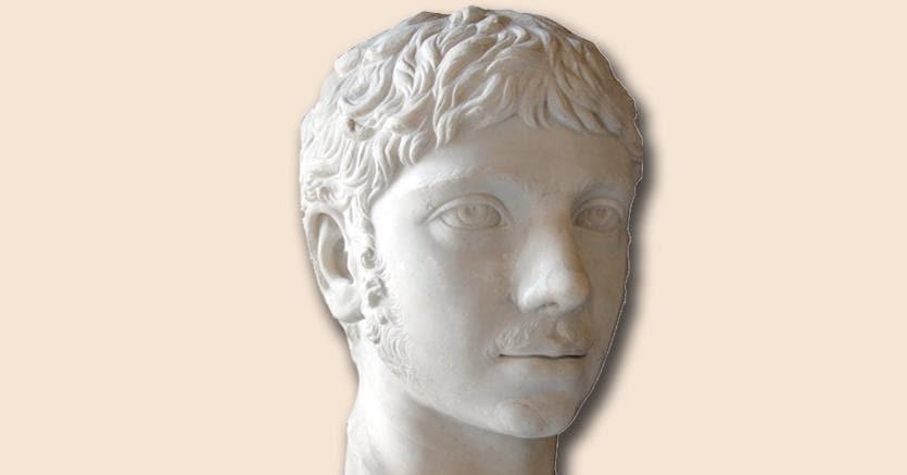 Imperatore.Busto con il ritratto  di Elagabalo,  (22o d.C. circa) Roma,  Musei Capitolini