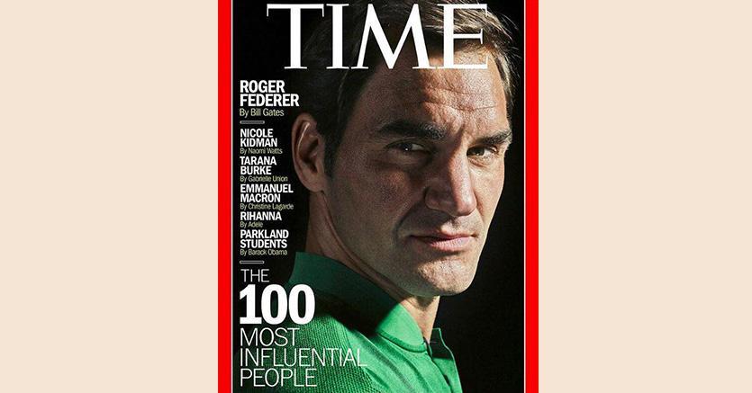 Roger Federer in copertina  su «Time» lo scorso aprile: quest'anno è testa di serie numero 1 a Wimbledon
