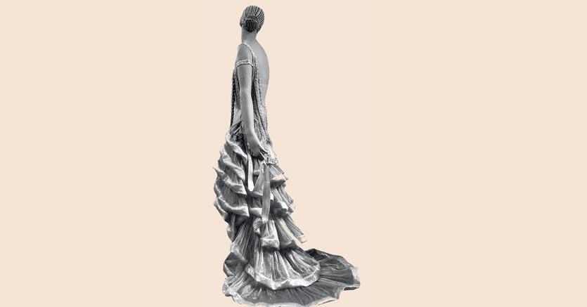 Manichino d'autore.Man Ray, manichino  di Siégel  vestito  da Lanvin  per l'Exposition  du Musée des  Arts décoratifs  del 1925