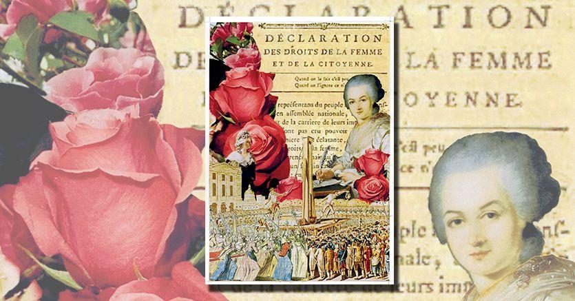 Rivoluzionaria.Il collage dedicato a Olympe de Gouges