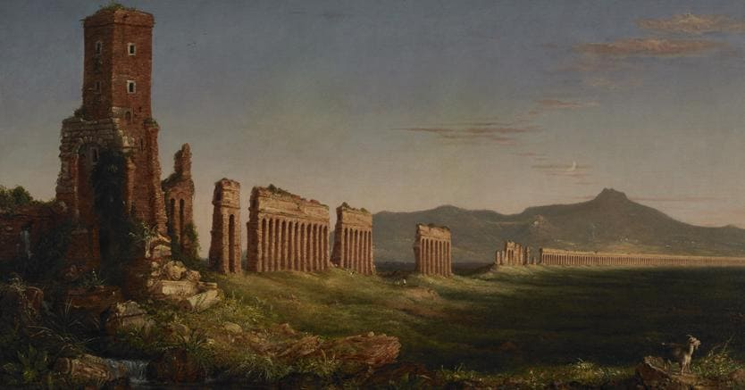 Thomas Cole, Aquedotto vicino Roma, 1832 (Kemper Art Museum, Washington University St. Louis)