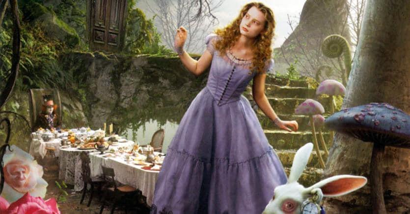 In cerca del lieto fine. Una scena tratta dal film «Alice in Wonderland» (2010), di Jonny Depp