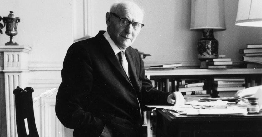 Nobel.Lo scrittore polacco americano Isaac Bashevis Singer (1904-1991) nel 1968