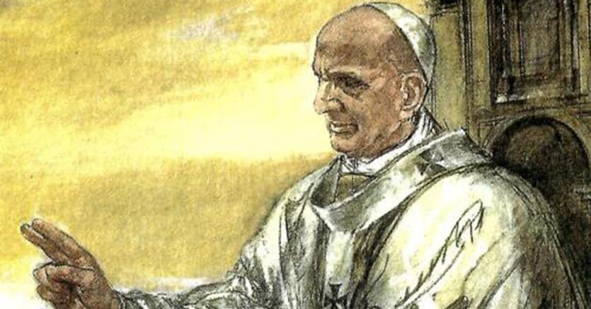 Papa Paolo VI. Ritratto da Alberto Sughi