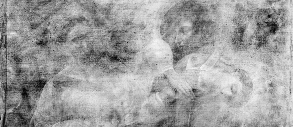 Radiografia Caravaggio Buona Ventura (Musei Capitolini)