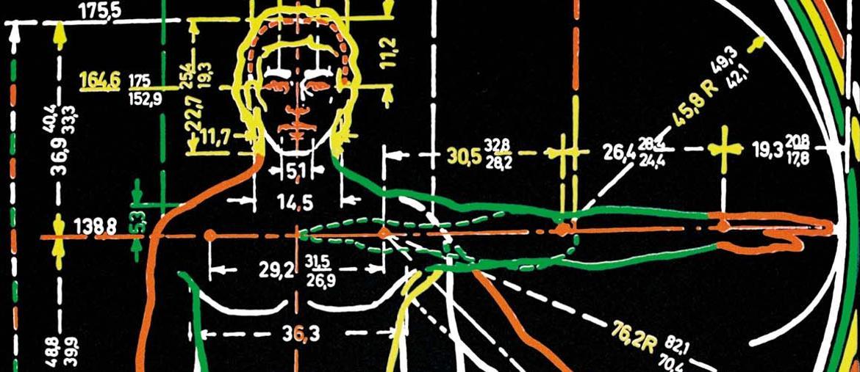 A Torino. Manifesto  di C.T. Castelli  e R. Pieracini (Studio Sottsass jr.),  nell'ambito della mostra «1969. Olivetti formes  et recherche