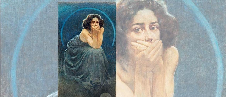 «Il Silenzio»   di Giorgio  Kienerk (1900), Palazzo Roverella, Rovigo