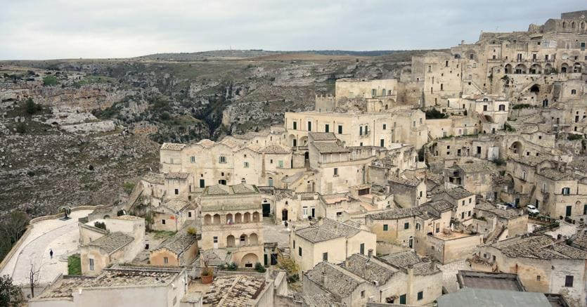 Dicembre 1993 l'Unesco ha dichiarato i Sassi di Matera patrimonio dell'umanità (Italy Photo Press)