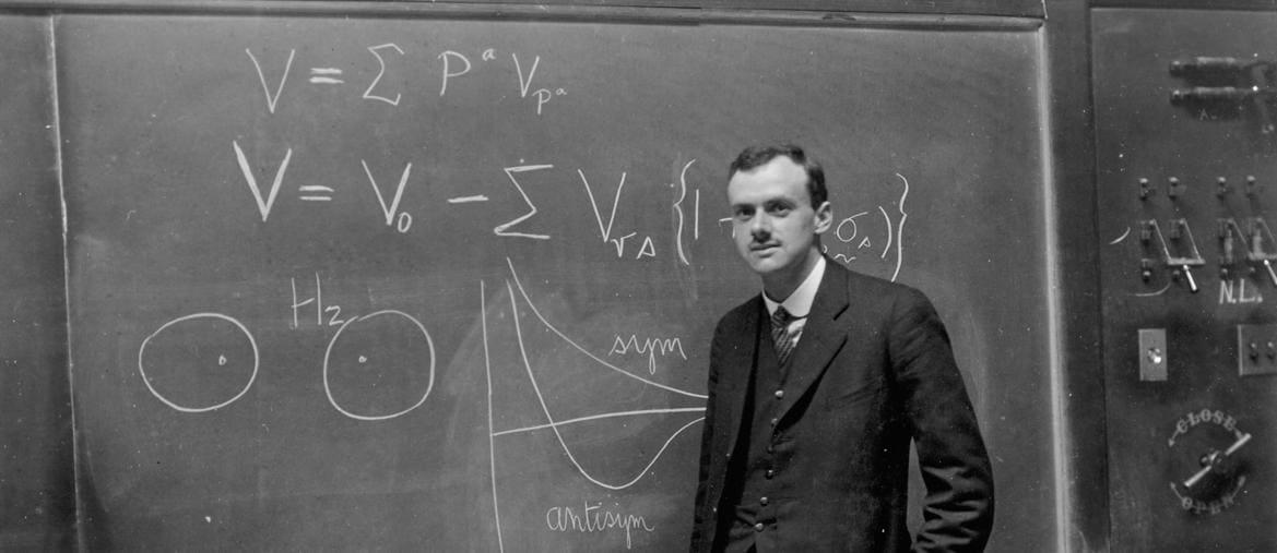 Alla lavagna. Paul A.M.Dirac