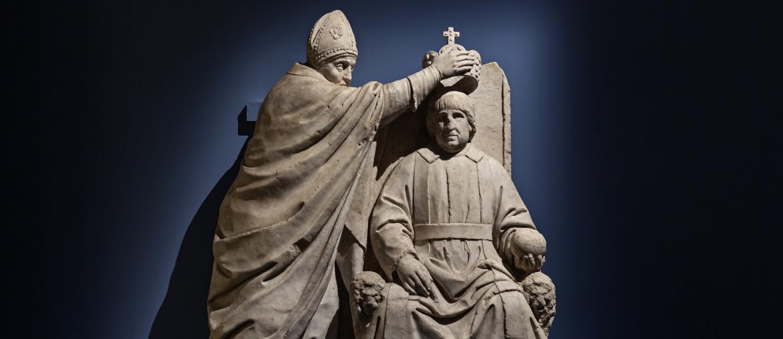 Benedetto da Maiano, «Incoronazione di Alfonso II d'Aragona» (1494 circa), Firenze, Museo del Bargello