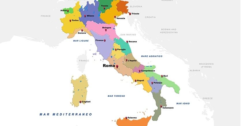 Cartina Italia Provincie.La Mappa Dell Italia A Rischio Infiltrazione Il Sole 24 Ore