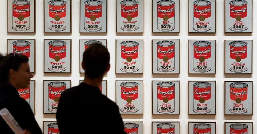 Icona pop.La rappresentazione delle zuppe Campbell's realizzata da Andy Warhol al Moma di New York