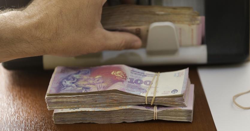 Banconote argentine:il peso è scivolato ai minimi storici contro il dollaro Usa (Ansa/Ap)