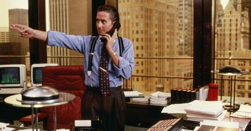 Michael Douglas è Gordon Jekko, spregiudicato genio della finanza nel film «Wall Street»