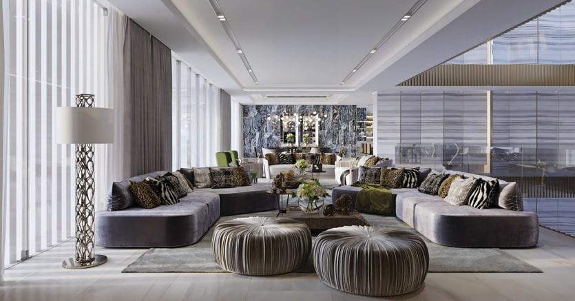 Roberto cavalli home progetta gli interni di 160 ville di for Interni ville di lusso