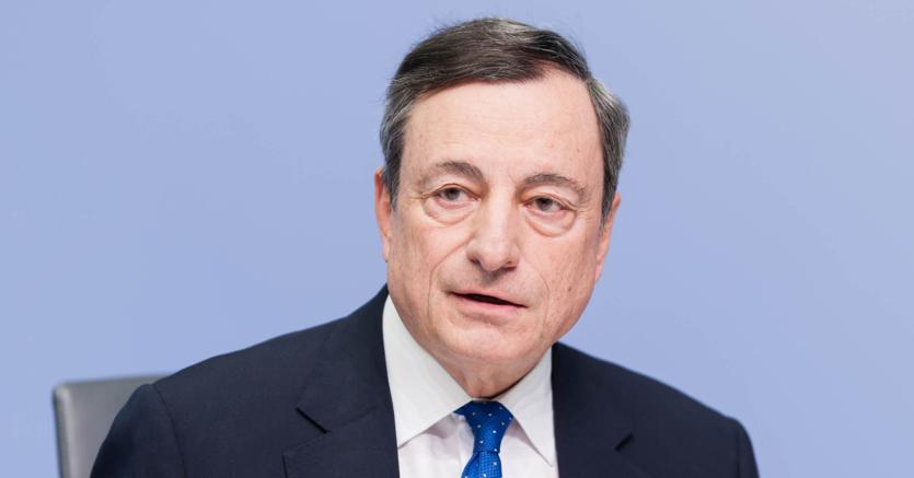 Il presidente della Bce Mario Draghi (foto   Imagoeconomica)