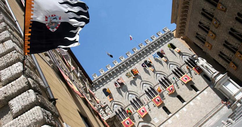 La sede di Banca Monte dei Paschi a Siena