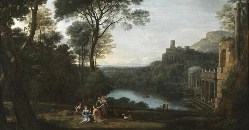 Claude Lorrain, Paesaggio con la ninfa Egeria - 1669 - ph.L.Romano