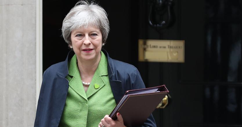 La premier britannica Theresa May (Afp)