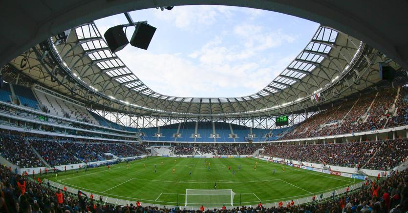 Il nuovo stadio di Volgograd. Vi hanno contribuito le aziende italiane Cimolai e Isopan