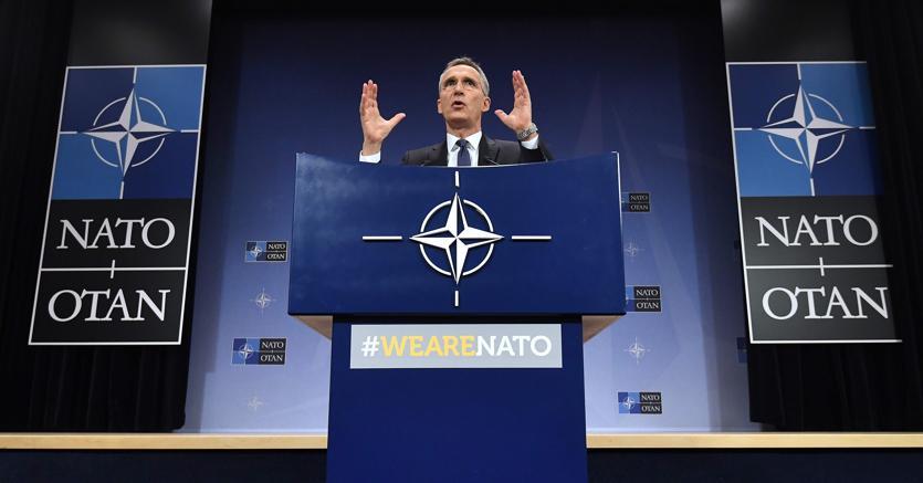 Il segretario generale della Nato Jens Stoltenberg. A luglio il vertice dell'Alleanza su budget e priorità a Est (foto Afp)