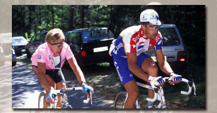 Evgeni Berzin e Miguel Indurain al Giro d'Italia del 1994