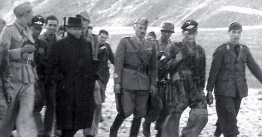 Mussolini liberato dai nazisti a Campo Imperatore
